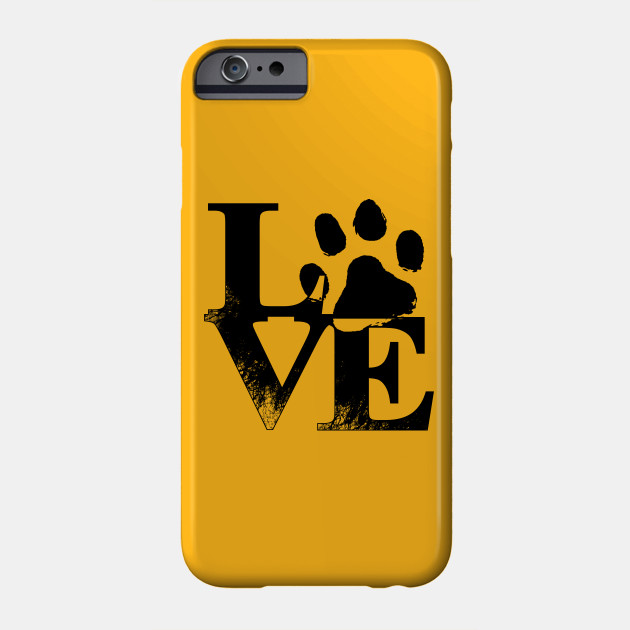 Love purr print Phone Case