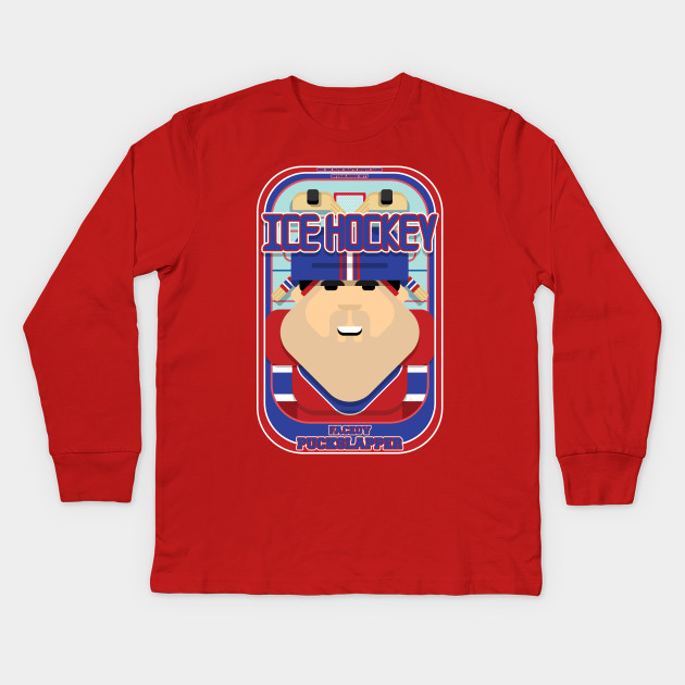 Ice Hockey Red and Blue - Faceov Puckslapper - Victor version