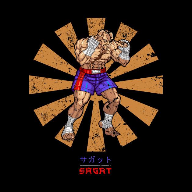 Sagat Retro Japanese Street Fighter