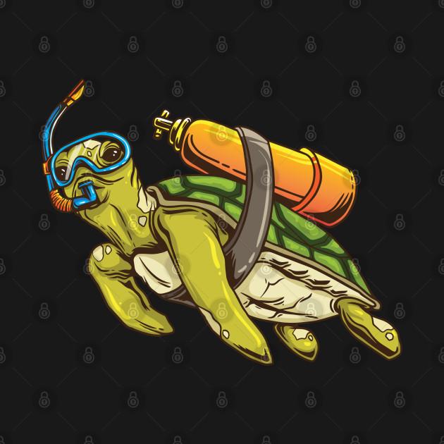 Turtle-Scuba-Diver