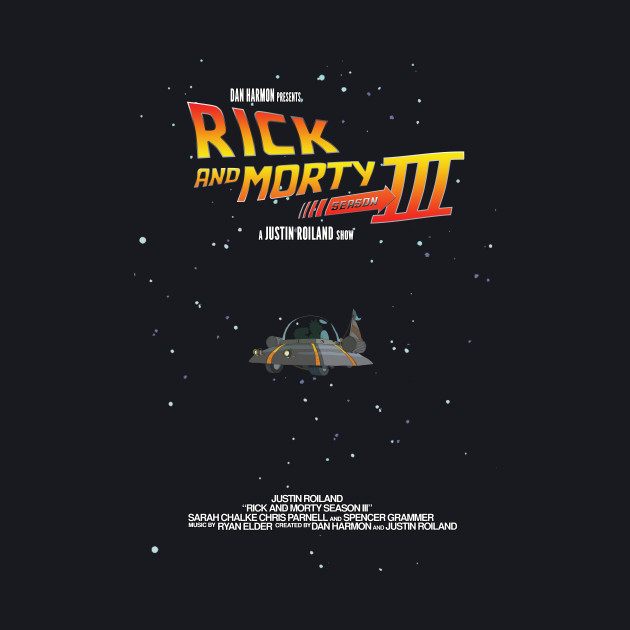 BTTF Style Rick and Morty Season 3 Poster