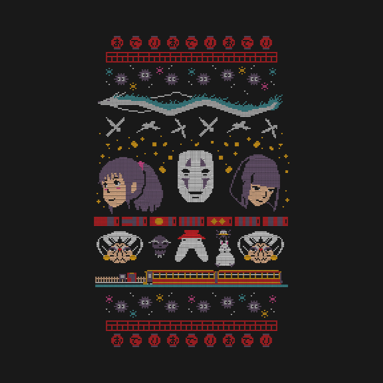 Spirited Away Ugly Christmas Sweater