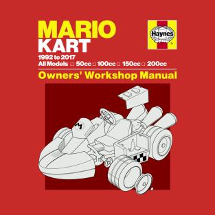 Mario Kart Manual t-shirts
