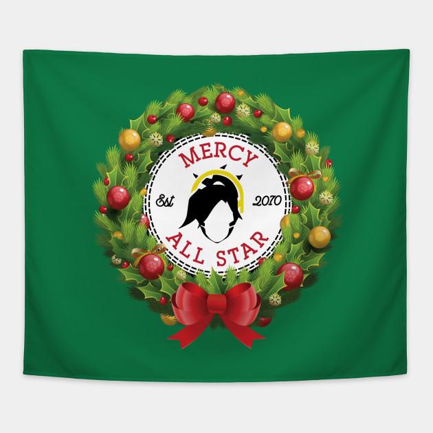 Overwatch Christmas.Christmas All Star Overwatch Mercy Wreath