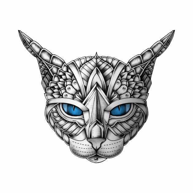 Ornate Blue Eyes Cat