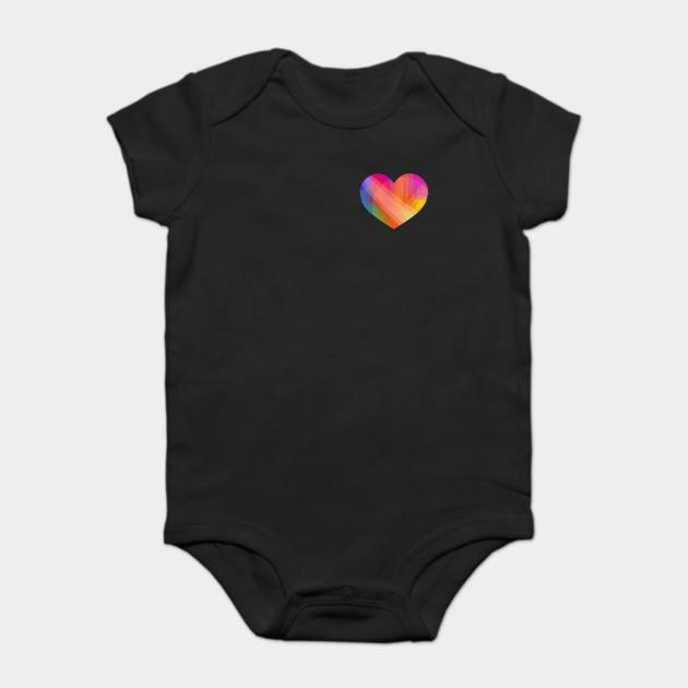 ad34b350a0c6 Rainbow heart - Rainbow - Onesie