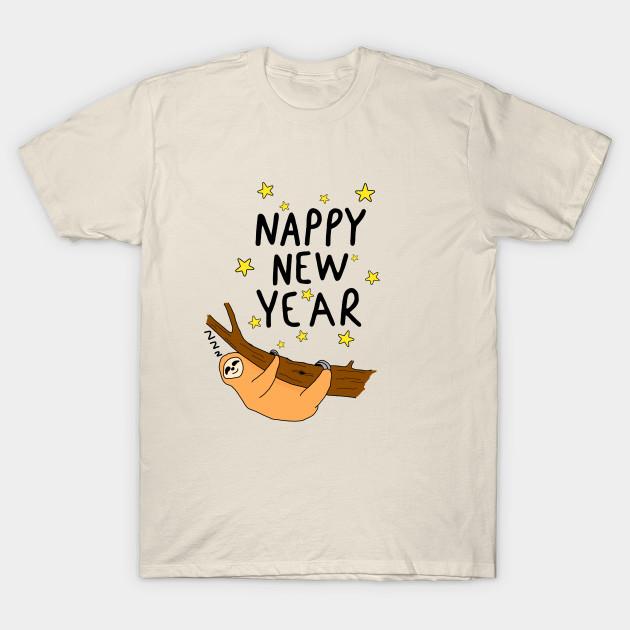 Nappy New year - Sloth - T-Shirt   TeePublic