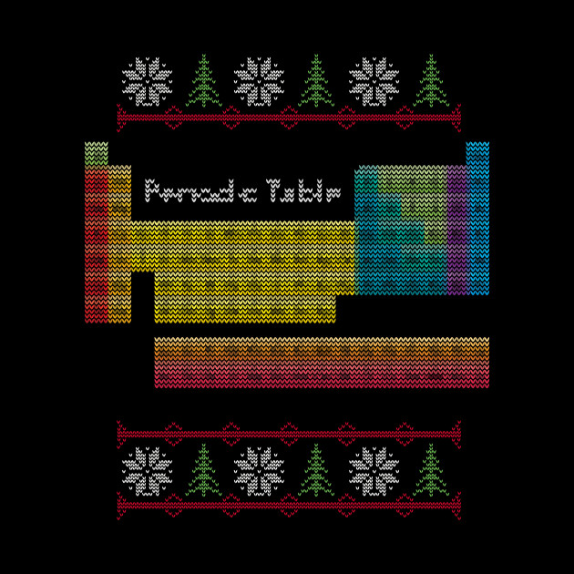 Periodic Table Ugly Sweater