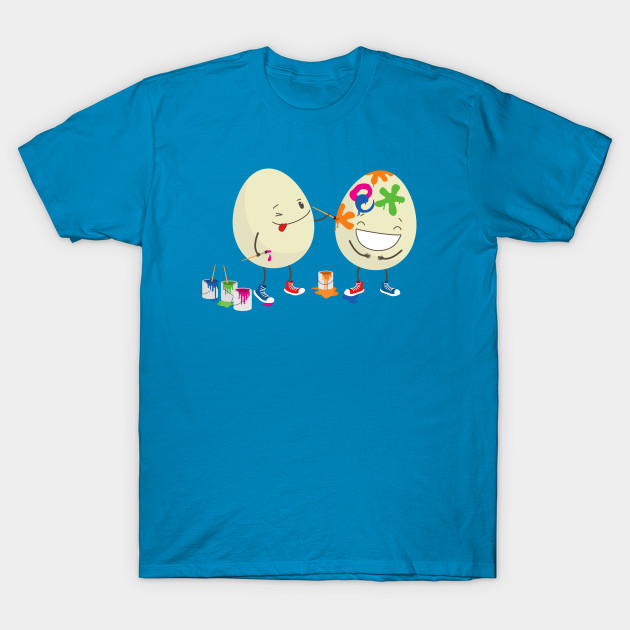 d5db64ef Funny Easter eggs decorating each other - Easter - T-Shirt | TeePublic