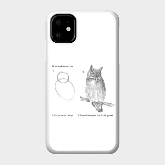 How To Draw An Owl Drawing Etui Na Telefon Teepublic Pl