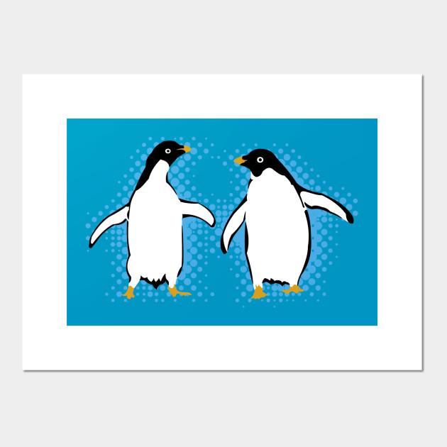 Dancing Penguins - Penguin - Posters and Art Prints | TeePublic UK