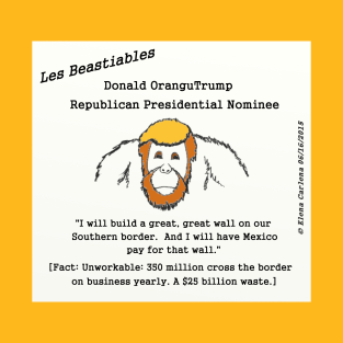 Donald OranguTrump Mexican Wall