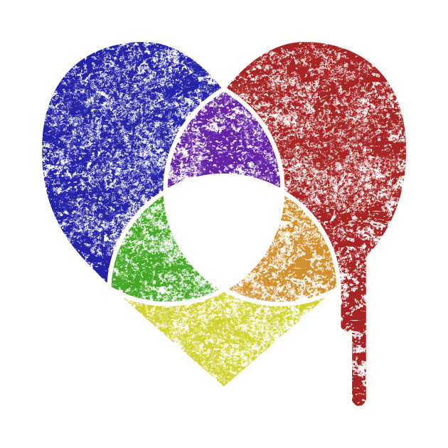 color chart heart - Color Chart - T-Shirt | TeePublic