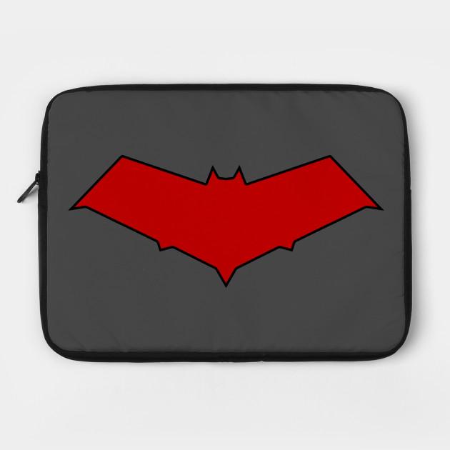 Red Hood Bat Dc Comics Laptop Case Teepublic