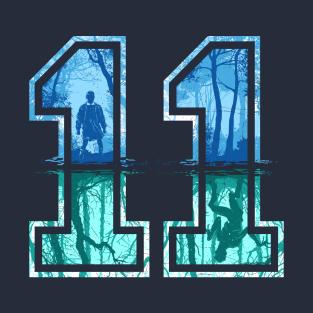 Strange Number 11 (blue) t-shirts