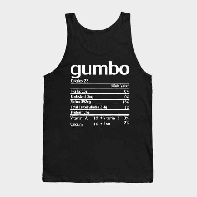gumbo nutrition thanksgiving Tank Top
