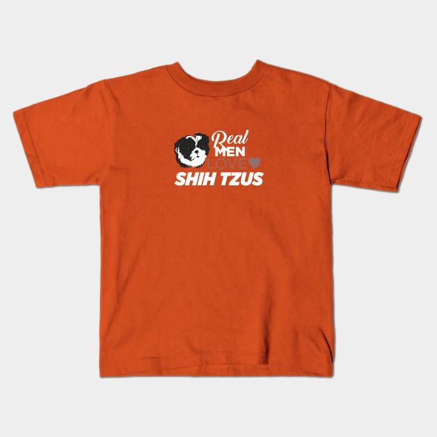 Real Men Love Shih Tzus Cute Tzu Kids T Shirt Teepublic