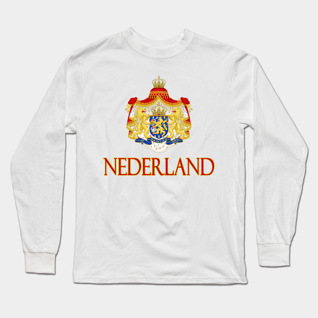 Netherlands Flag Crest Holland Dutch National Country Pride Hoodie Pullover