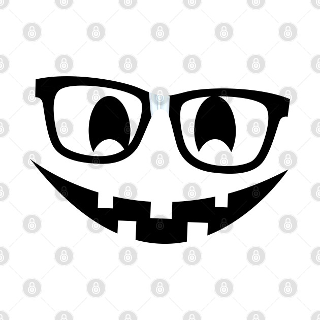 Nerdy Pumpkin Nerd Glasses Halloween