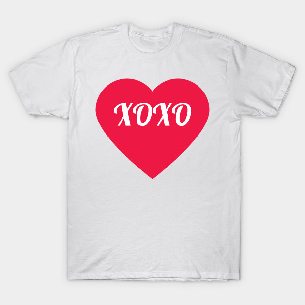 Valentine S Day Xoxo Heart Valentines Day T Shirt Teepublic