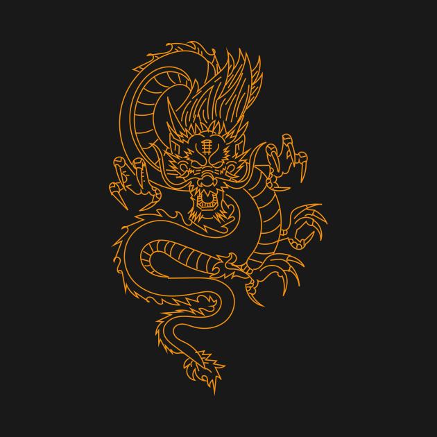 Gold dragon t-shirts, pillows, bags, cases, stickers
