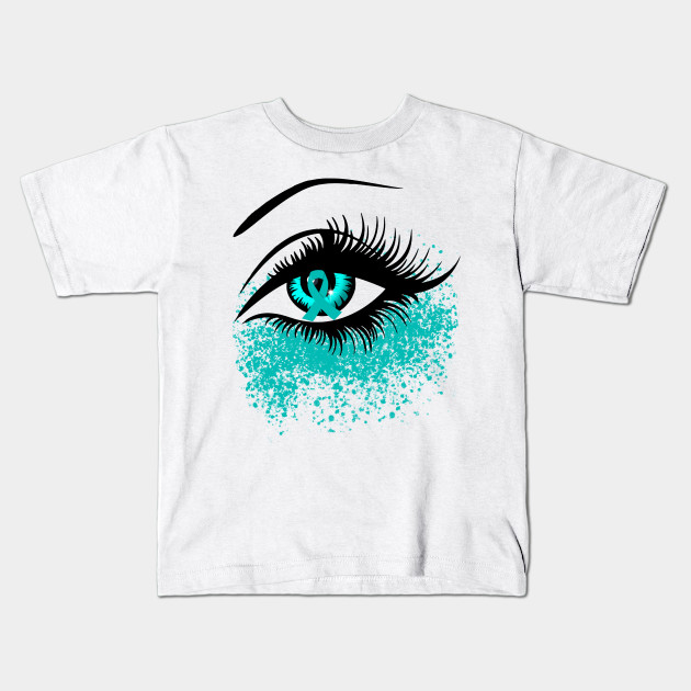 Ovarian Cancer Awareness T Shirt Perfect Eyes For Women Ovarian Cancer Awareness Kids T Shirt Teepublic