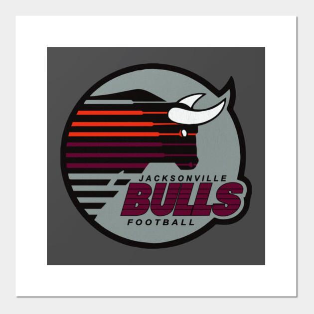 Jacksonville Bulls Football USFL Decal Vinyl Bumper Sticker 5 DEFUNCT