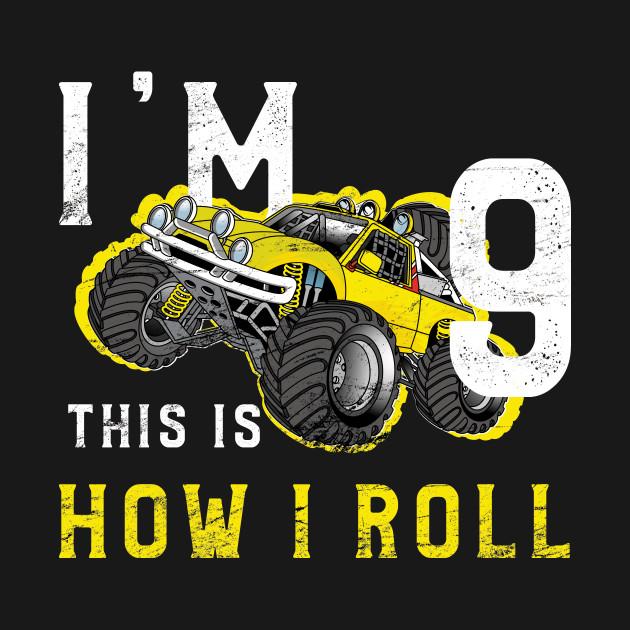 Monster Truck Birthday Shirt Im 9 Years Old TShirt