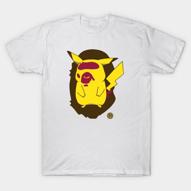 bape x pokemon a bathing ape t shirt teepublic. Black Bedroom Furniture Sets. Home Design Ideas