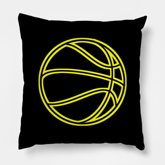 Basketball Vector - Yellow Black - Basketball Lovers Graphic Sports