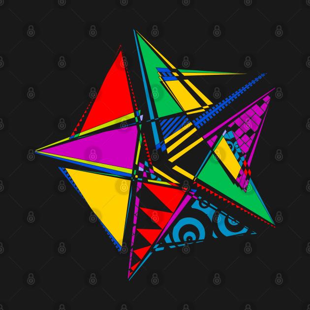 Data Art Maurer Rose | Abstract Funky Geometric Star Black