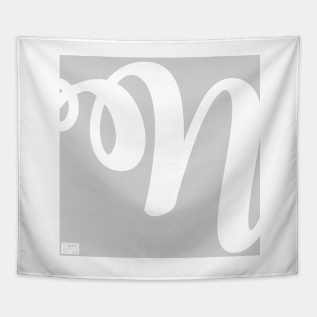 letter n elegant cursive calligraphy initial monogram cursive