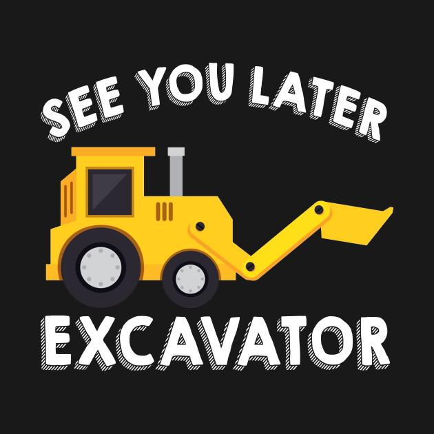 Excavator Kids Shirt  Boys Excavator Dig Tee