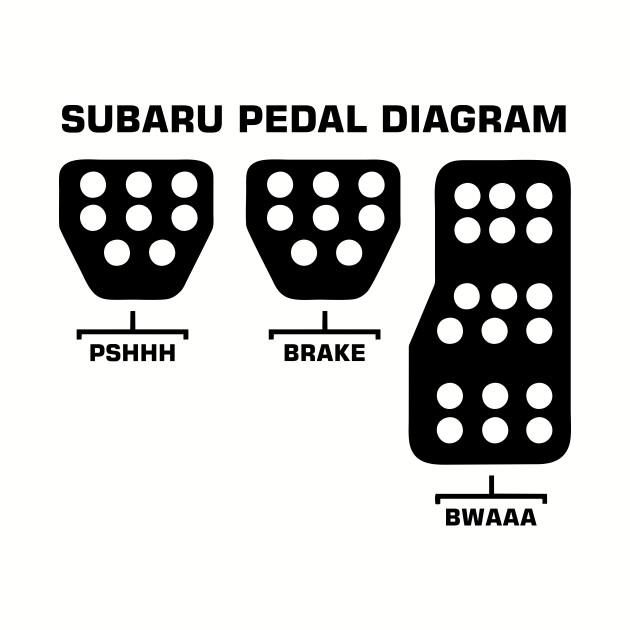 Subaru Pedal Diagram Black Subaru T Shirt Teepublic