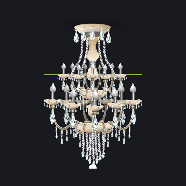 Glitch Furniture Ceilinglamp Baroque Ceiling Lamp