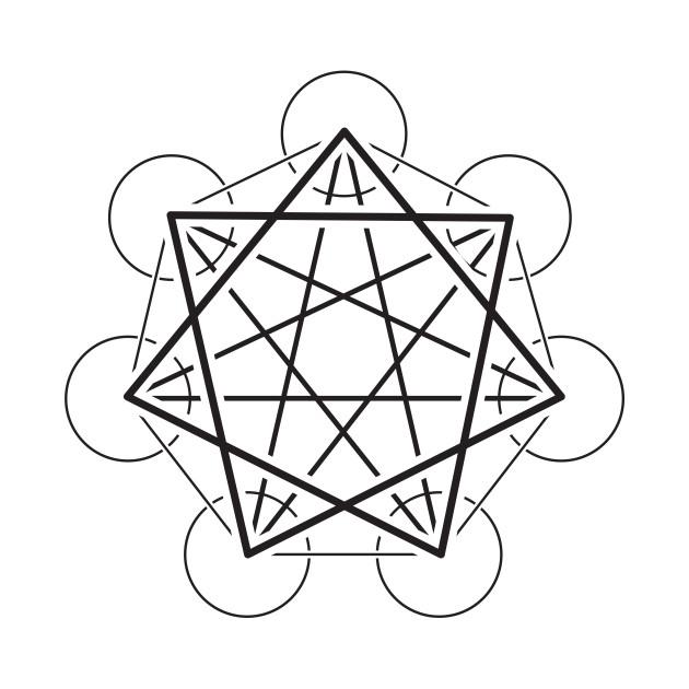 Heptagram (7 sided star) - Awesome Sacred Geometry Design