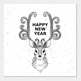 Happy New Year 2019 Posters And Art Prints Teepublic