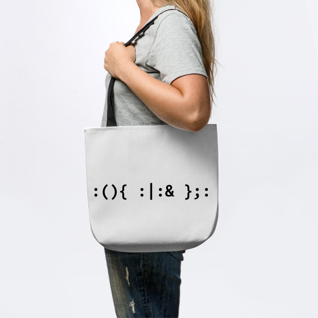Cotton Tote Bag I Love Linux