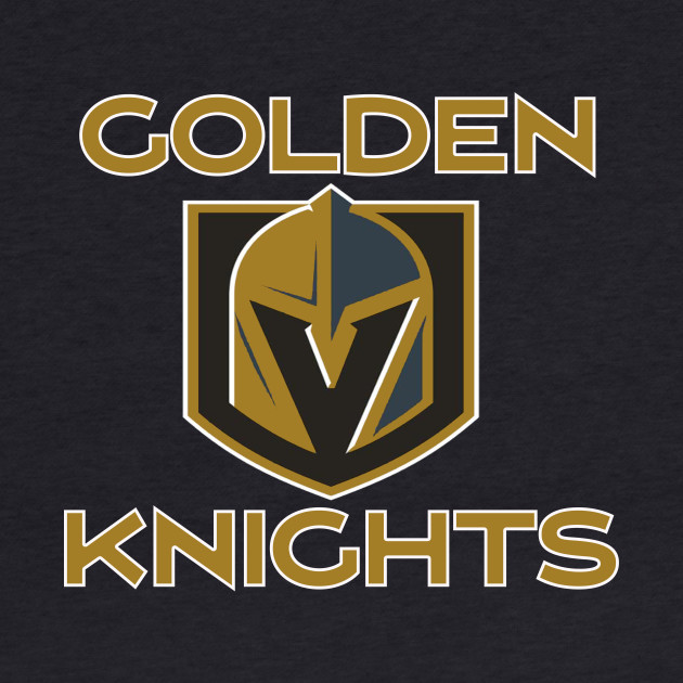 A Golden Vegas Sports Shirt Knight Emblem Tshirt