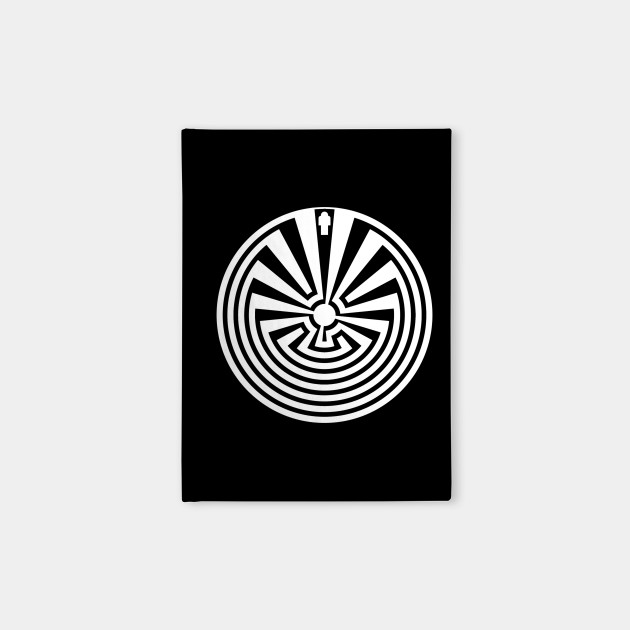 Native American Man In The Maze White Man In The Maze Notebook