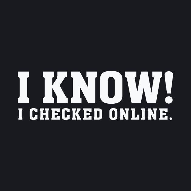 I know! I checked online