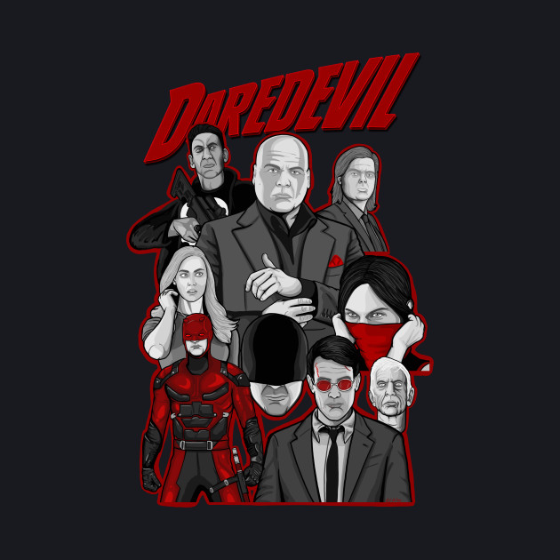 daredevil character collage art