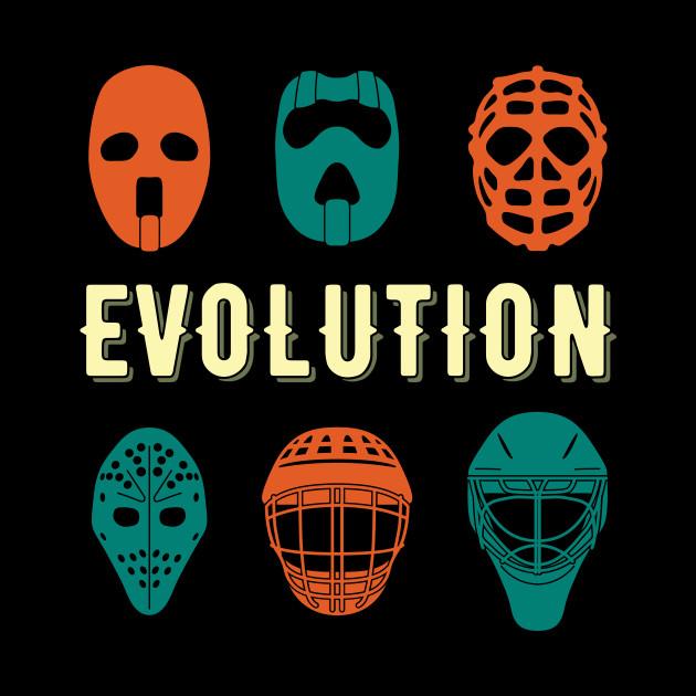 Ice Hockey Player Goalie Mask Evolution Goalkeeper Gift Idea Ice