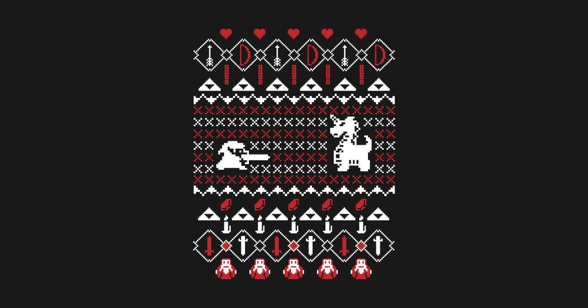 Zelda Ugly Christmas Sweater - Ugly Christmas Sweater - T-Shirt ...