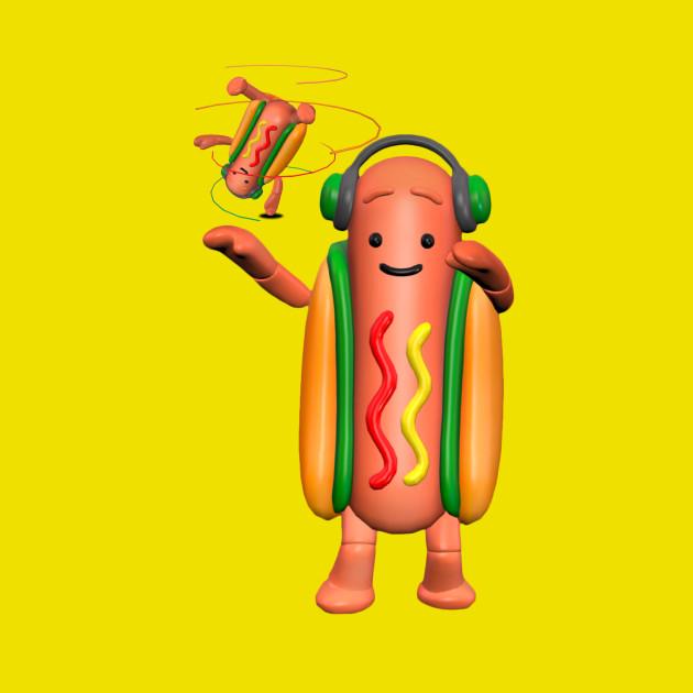 Dancing Hot Dog Man!
