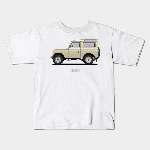 series 3 station wagon 88 limestone - land rover - kids t-shirt