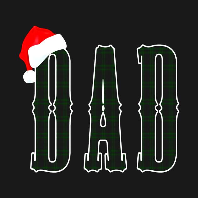 Plaid Dad Santa Christmas Matching Family Pajama T-Shirt