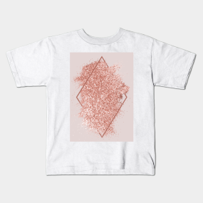4c419f77 Rose Gold Glitter Geometric Art Kids T-Shirt. by NewburyBoutique. $18. Main  Tag ...