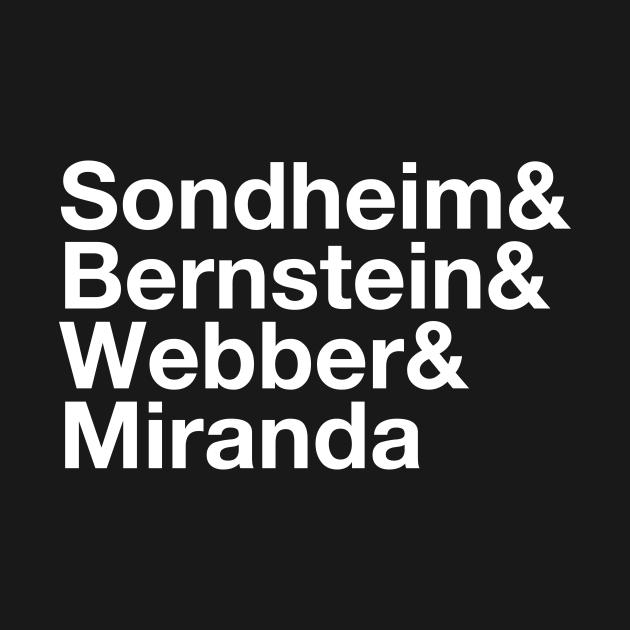 Sondheim & Bernstein & Webber & Miranda Broadway Musical Composers
