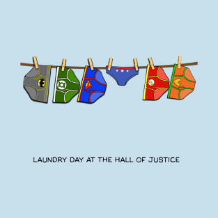 Laundry Day at the Hall of Justice